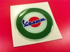 Sticker Resin Vespa 3D Green & Red