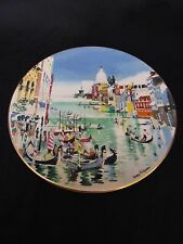 Vintage 1977 Royal Doulton England Grand Canal Venice Plate Dong Kingman #22