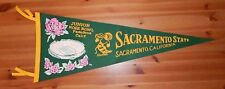 Vintage 1968 Sacramento State Hornets Junior Rose Bowl College Football Pennant
