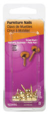 Hillman 7/16 in. L Furniture Brass-Plated Brass Nail Smooth Shank Round