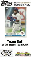 TAMPA BAY RAYS 2019 Topps Pro Debut BASE TEAM SET (11 Cards) Franco-McKay+