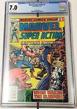 Captain America - Marvel Super Action #2 CGC 7.0 -1977 -Newsstands Edt.