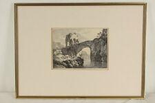 Adrian ZINGG (1734-1816) n. Dietricy (1712-1774) Südliche Landschaft Steinbrücke