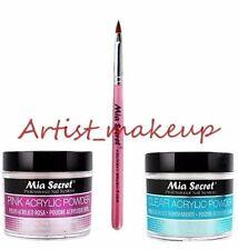 Mia Secret Acrylic Nail Powder Pink + Clear 2 oz + Kolinsky Brush# 4OR