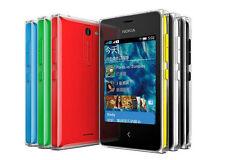 Original Nokia Asha 502 Dual SIM Cámara 5MP teléfono inteligente con pantalla táctil 3.0 en