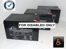 3 x LEOCH 12V 15AH (Replaces 12Ah) GEL/AGM Electric WHEELCHAIR Batteries *