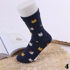5 Colors Cat Socks Cartoon Animal Cute Pair Soft Winter Women 1 Cotto Gift 4#