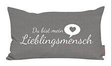Kissen Lieblingsmensch grau 30x50cm Made In Germany (grau)