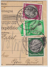 1942 Dachau Germany Parcel Cover KZ Concentration Camp to Warsaw Poland