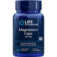 Magnesium Caps 500mg 100 Veg Capsules | TRAACS Magnesium-Lysyl-Glycinate-Chelate