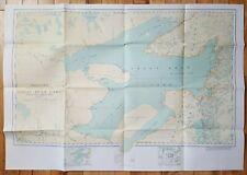 GREAT BEAR LAKE NORTHWEST TERRITORIES CANADA FOLDING MAP VINTAGE CANADIAN RETRO