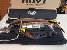 "Hoyt Satori Recurve Bow 19"" Black Riser Lh With 45# Medium Wood Limbs Amo 62"""