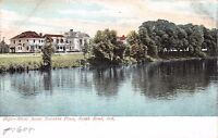SOUTH BEND INDIANA RIVER SCENE NAVARRE PLACE POSTCARD 1900s