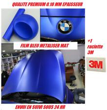 Film vinyle covering bleu métalise mat thermoformable 150 x 30 + raclette 3M