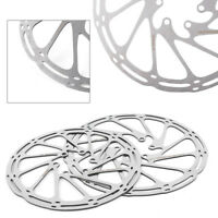1x 160mm/180mm Steel MTB Bike Bicycle Disc Brake Rotor Brake Pad w/ 6 Bolts