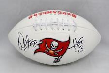 Warren Sapp Autographed Tampa Bay Buccaneers Logo Football W/ HOF- JSA W Auth