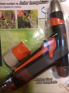 Gardena Premium Stainless Steel 2 in 1 Spray water Gun Nozzle 9917M garden (BB)