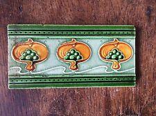"""ORIGINALE art Nouveau tile 3""""X 6"""" C.1905"""