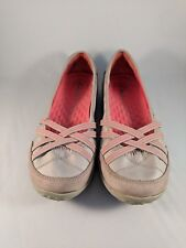 Clarks Womens Flats Size 6M Beige With Pink Accents