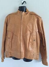 Men's Authentic Ostrich Golden Camel Jacket size 2XL-3XL by Jean-Claude Jitrois