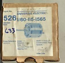 Universal Electric 526 Motor 1/60 Hp 115 V 1565 Rpm