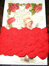 "5yd~BIG 3/4"" Vintage Red Cotton Ric Rac Trim~doll"