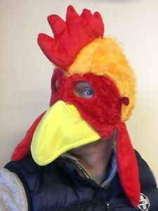 Chicken Head Mask Rooster Hat Farm Animal Bird Fancy Dress Stag Party Costume