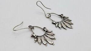 925 Silver Earrings Pierced Dangle DY231