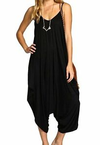 Hareem Strappy Jumpsuit in Black (BNWT) Freesize (8-16)