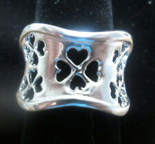 Sterling Silver Clover or Hearts Adjustable Ring