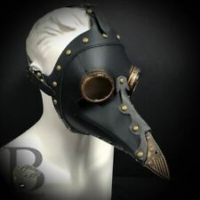 New Plague Doctor Bird Masquerade Mask Black with Gold Details