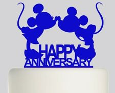 Happy Anniversary Mickey Mouse Minnie Mouse Acrylic Cake topper .291