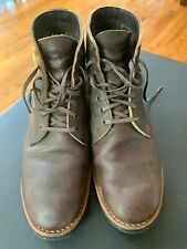 """Red Wing Heritage Merchant 6"""" Ebony wax laces Leather Boots Size 10 D 8061"""