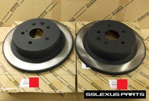Lexus IS250 (2014-2015) OEM Genuine REAR BRAKE ROTOR SET 42431-30300 (x2)