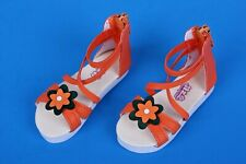 *ORANGE SANDALS* PU Leather shoes for doll SD BJD 10/13 girl **Schuhe Pumps**