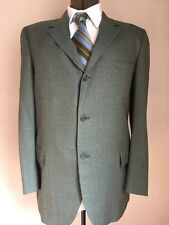"Men's 60's 2 Pc SUIT44R Olive Plaid RACQUET CLUB Hart Schaffner & Marx 38""W X 32"