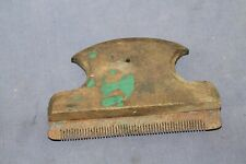 Antique primitive hand made small comb for horse from wood and iron