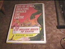 TWENTY MILLION MILES TO EARTH 1957 ORIG MOVIE POSTER CLASSIC HORROR