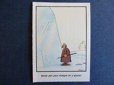 "The FAR SIDE 1986 Vintage Card - Blank Inside - ""Never Put Tongue On A Glacier"""