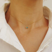 Evil Eye Choker Pendant Necklace - Minimalist 14K Gold Filled Kabbalah Jewelry