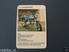 8-MOTOREN 3A DUCATI  860GTS  KWARTET KAART MOTORCYCLES, QUARTETT,SPIELKARTE