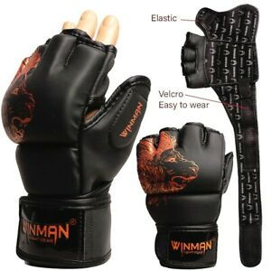 MMA Gloves Boxing Grappling Kick Training Punching Fighting Cage Muay Thai Ufc