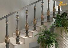 Unique oak stair spindles designs - Stair parts (10 pc.)