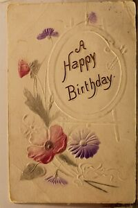 Greetings A Happy Birthday Postcard Old Vintage Card View Standard Souvenir Post