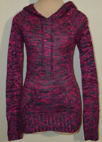 Women's Rue 21 Pink Purple Blend Long Sleeve Hoodie Sweater Top Sizes S-XL