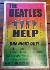 1966 THE BEATLES ROCK & ROLL CANDLESTICK PARK ONE NIGHT PAPER CONCERT POSTER
