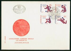 MayfairStamps Yugoslavia 1984 Combo 4 Los Angeles Games First Day Cover wwp80317
