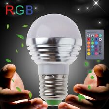 E27 3W RGB LED Light 16 Colors Changing Lamp Bulb 85-240V With Remote Control TL