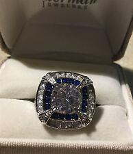 Grandmum's Estate 18kt Gold White With Blue Sapphire Ring