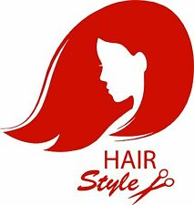 Hair Girl Stylist Beauty Tanning Salon Car Truck Window Vinyl Decal Sticker